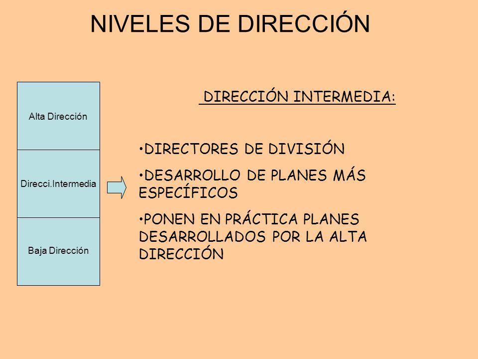 DIRECCIÓN INTERMEDIA: