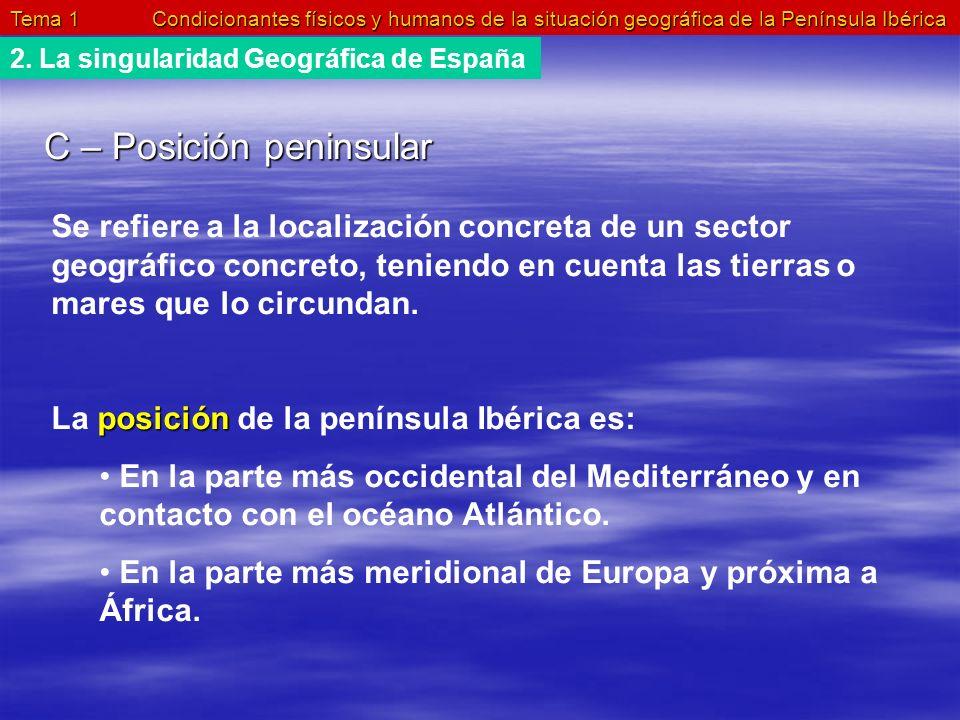 C – Posición peninsular