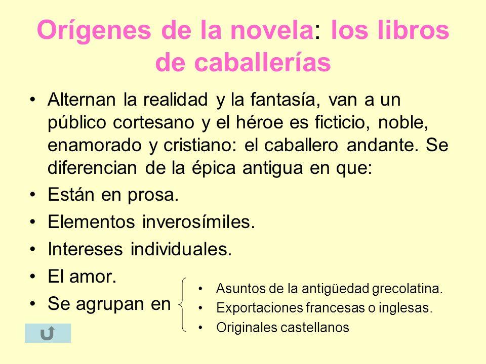 Orígenes de la novela: los libros de caballerías