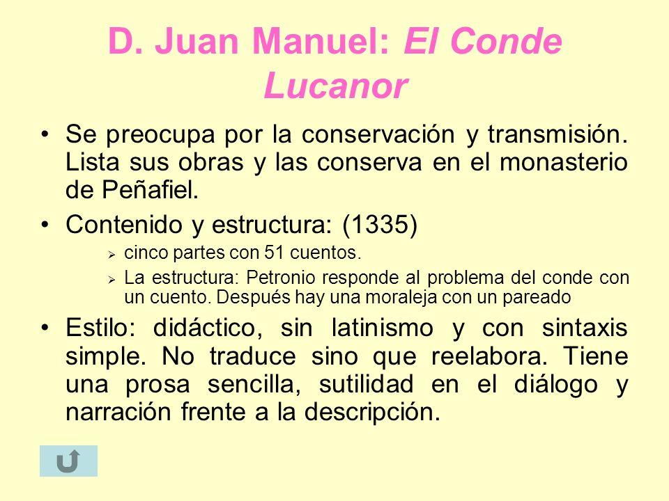 D. Juan Manuel: El Conde Lucanor