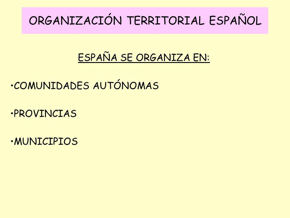 ORGANIZACIÓN TERRITORIAL ESPAÑOL