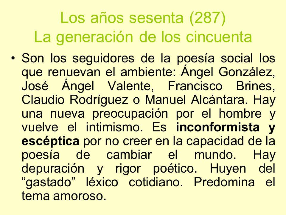 Los años sesenta (287) La generación de los cincuenta