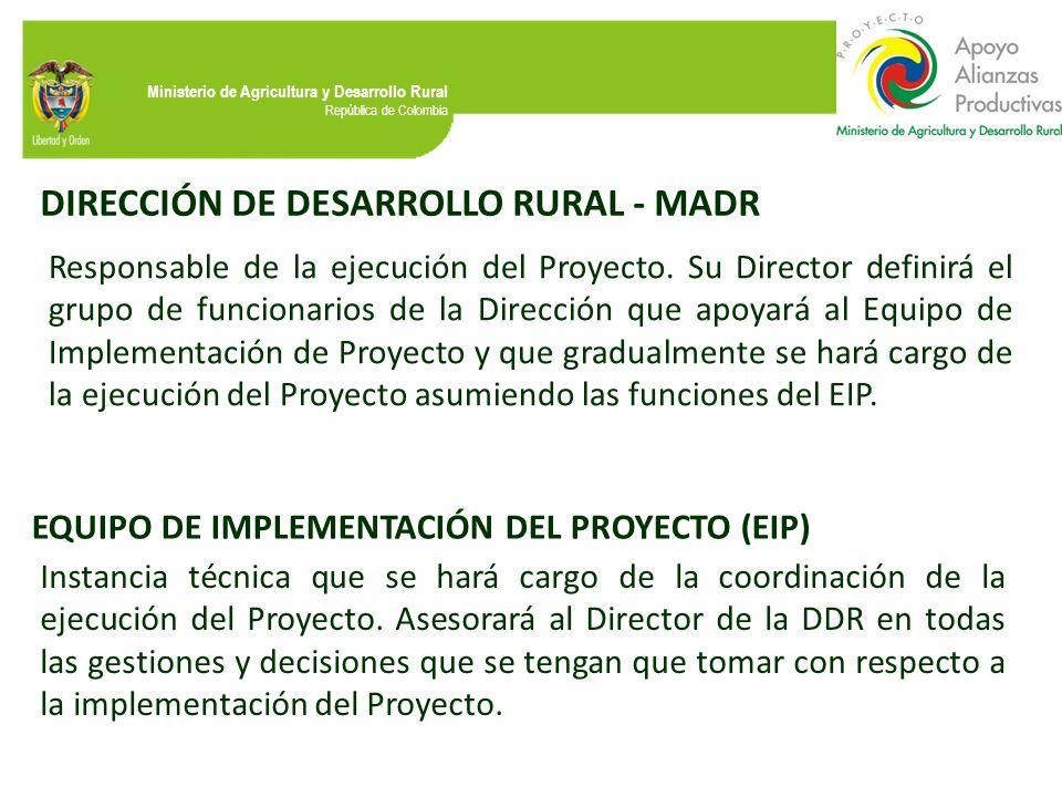 DIRECCIÓN DE DESARROLLO RURAL - MADR