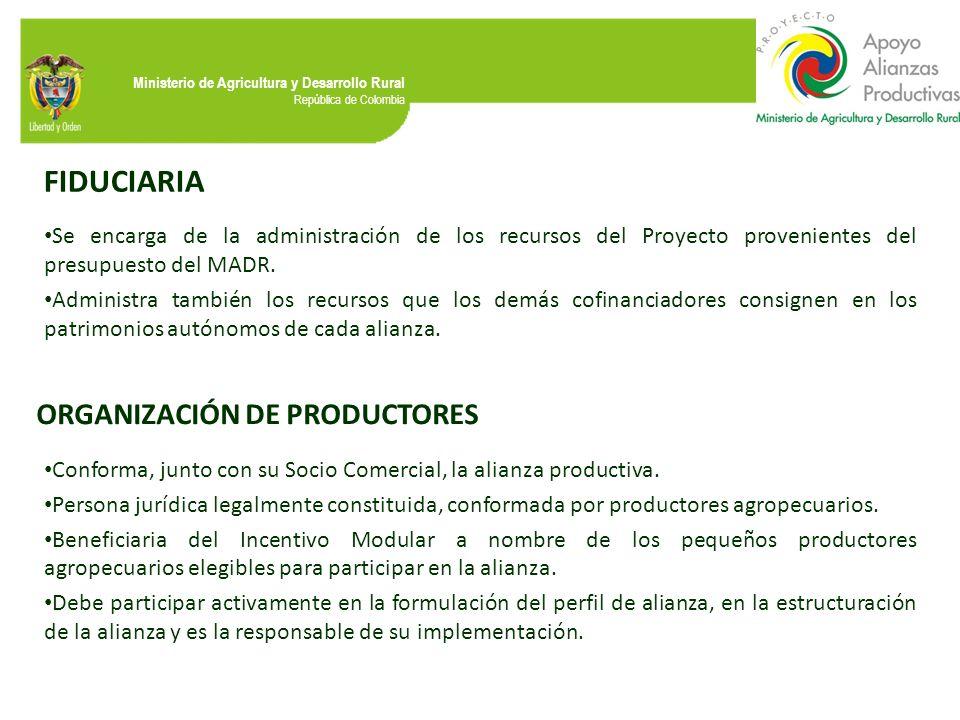 FIDUCIARIA ORGANIZACIÓN DE PRODUCTORES