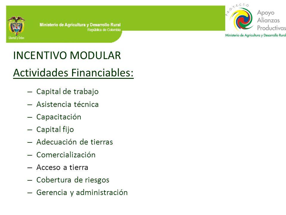 Actividades Financiables: