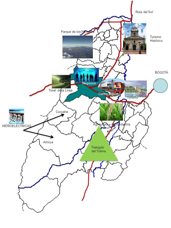 Ruta del Sol Parque de los Nevados. Turismo. Histórico. BOGOTÁ. Negocios. Túnel de la Línea. Centro logistico.