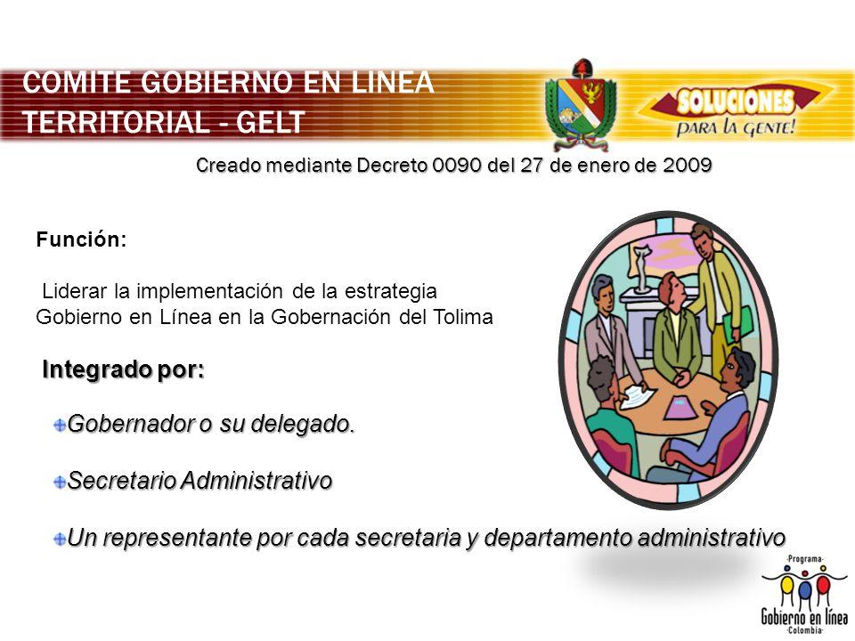 COMITÉ GOBIERNO EN LÍNEA TERRITORIAL - GELT