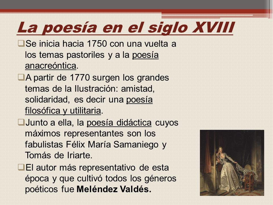 La poesía en el siglo XVIII