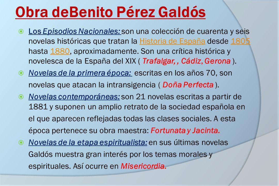 Obra deBenito Pérez Galdós