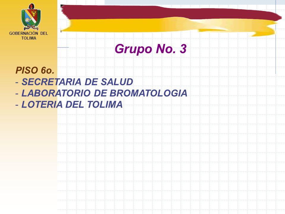 Grupo No. 3 PISO 6o. SECRETARIA DE SALUD LABORATORIO DE BROMATOLOGIA