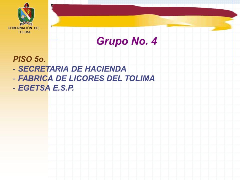 Grupo No. 4 PISO 5o. SECRETARIA DE HACIENDA