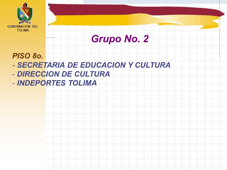 Grupo No. 2 PISO 8o. SECRETARIA DE EDUCACION Y CULTURA