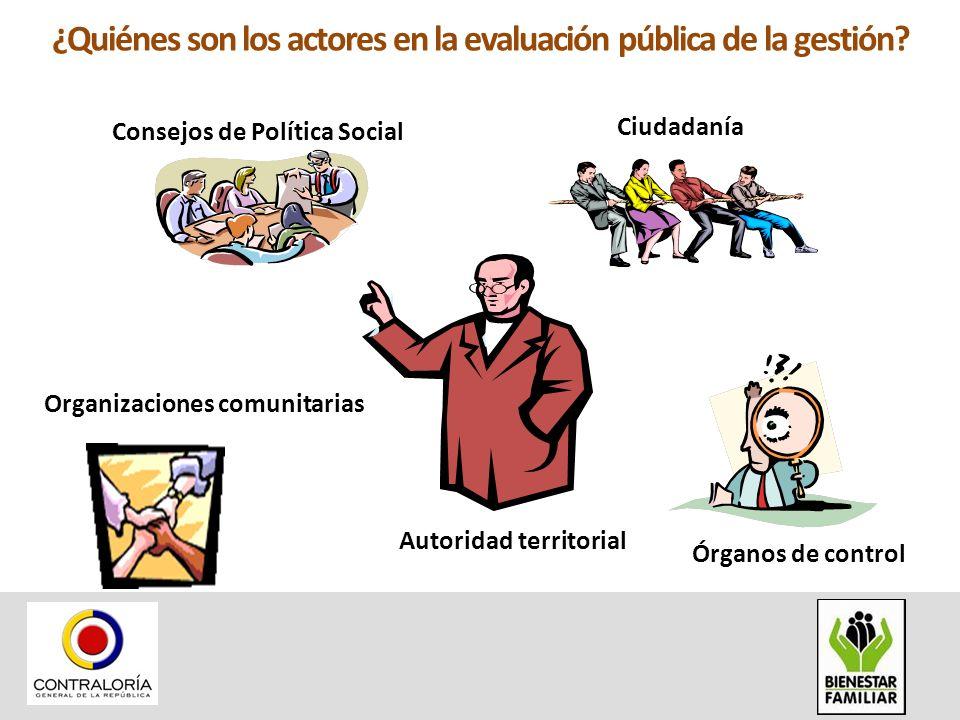 ¿Quiénes son los actores en la evaluación pública de la gestión