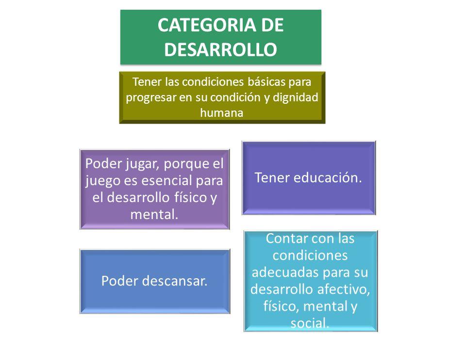 CATEGORIA DE DESARROLLO