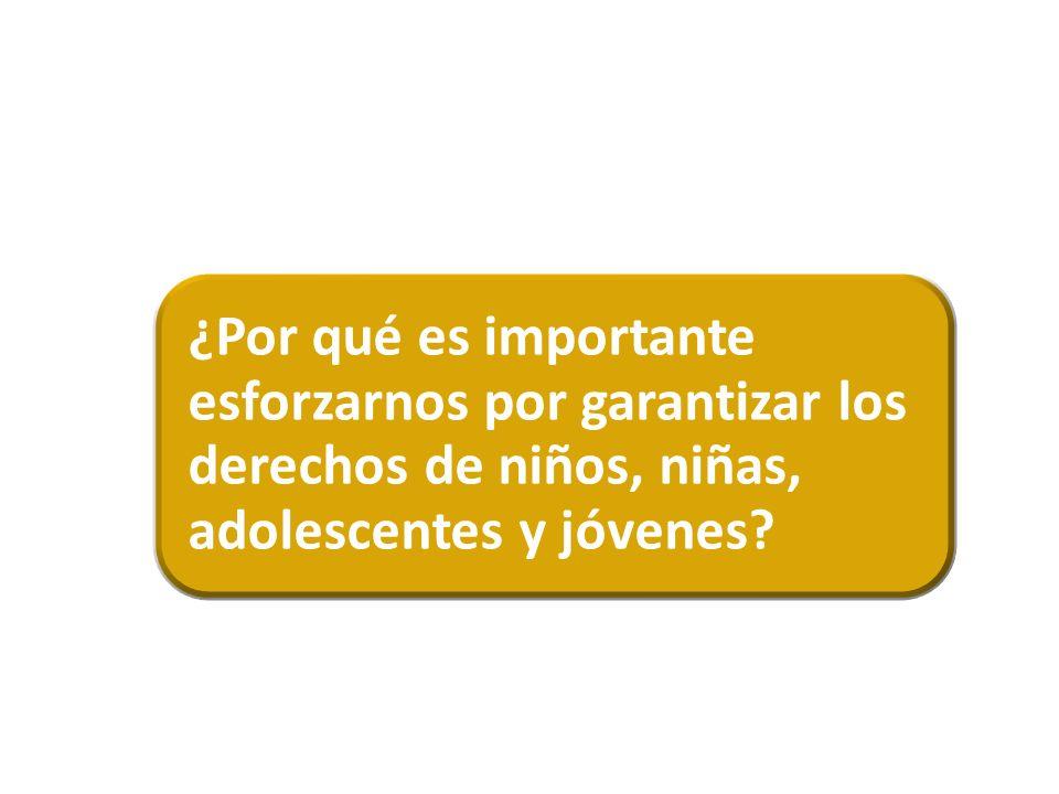 ¿Por qué es importante esforzarnos por garantizar los derechos de niños, niñas, adolescentes y jóvenes