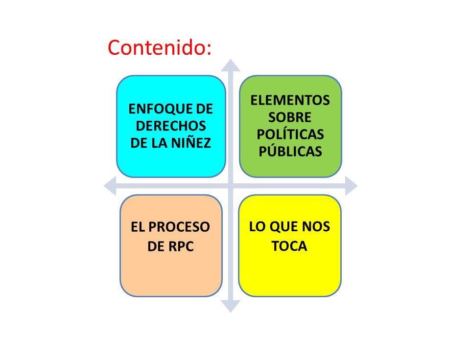 ENFOQUE DE DERECHOS DE LA NIÑEZ ELEMENTOS SOBRE POLÍTICAS PÚBLICAS