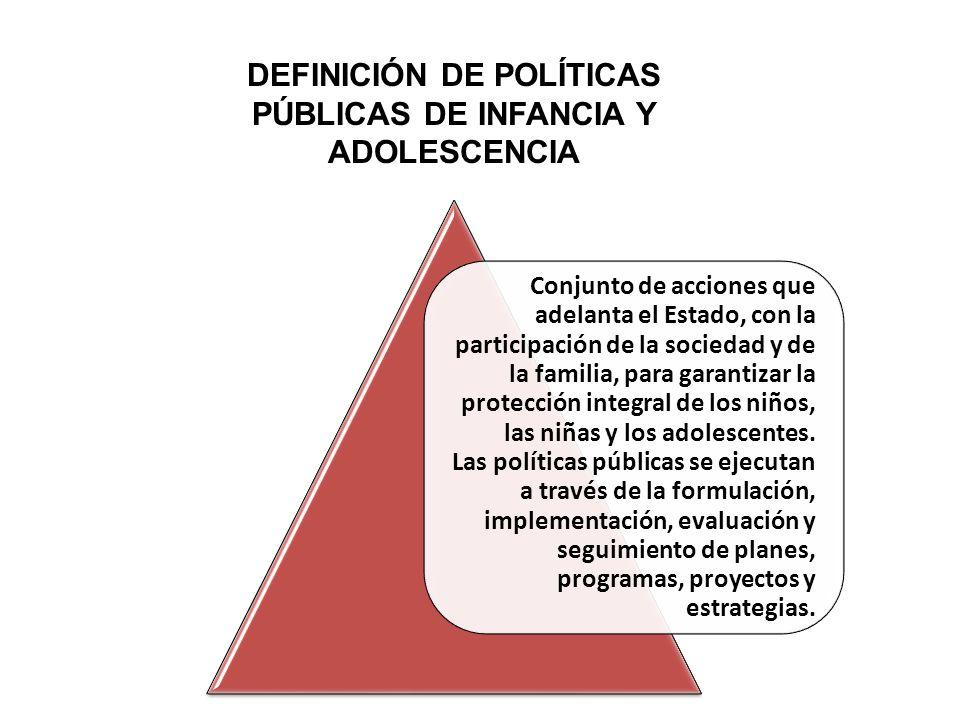 DEFINICIÓN DE POLÍTICAS PÚBLICAS DE INFANCIA Y ADOLESCENCIA