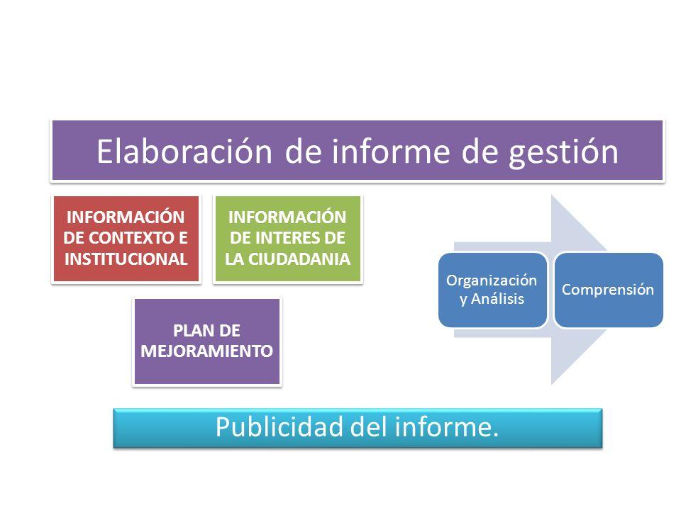 Elaboración de informe de gestión