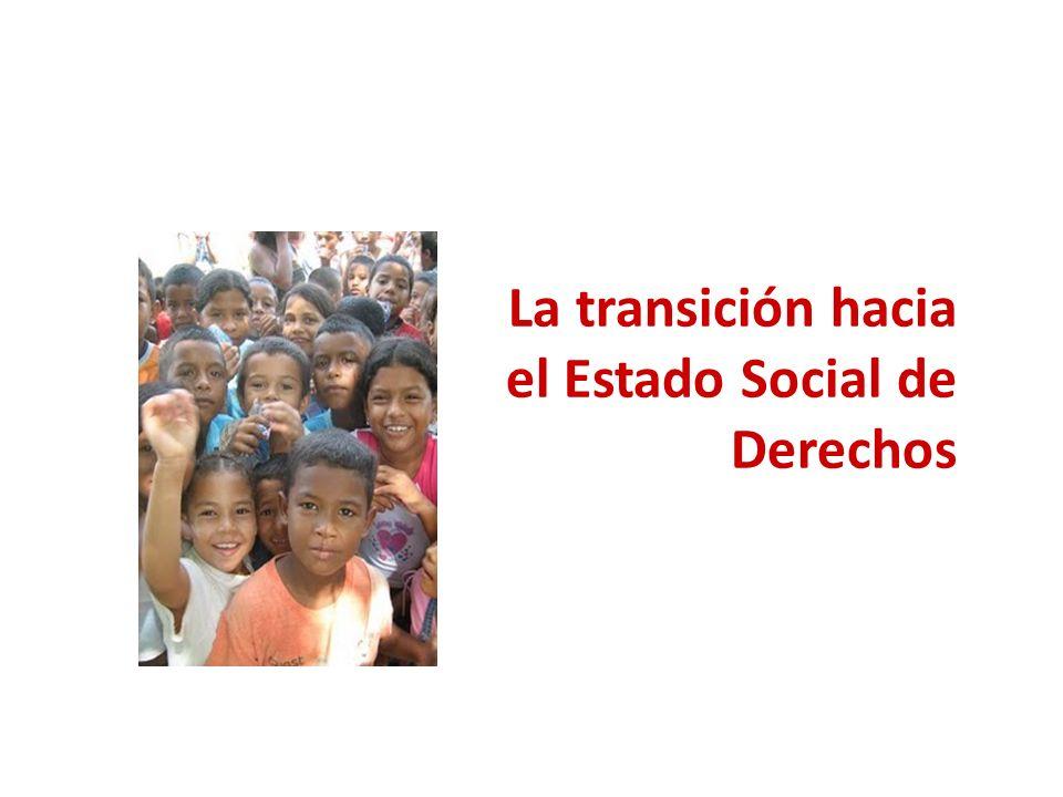 La transición hacia el Estado Social de Derechos