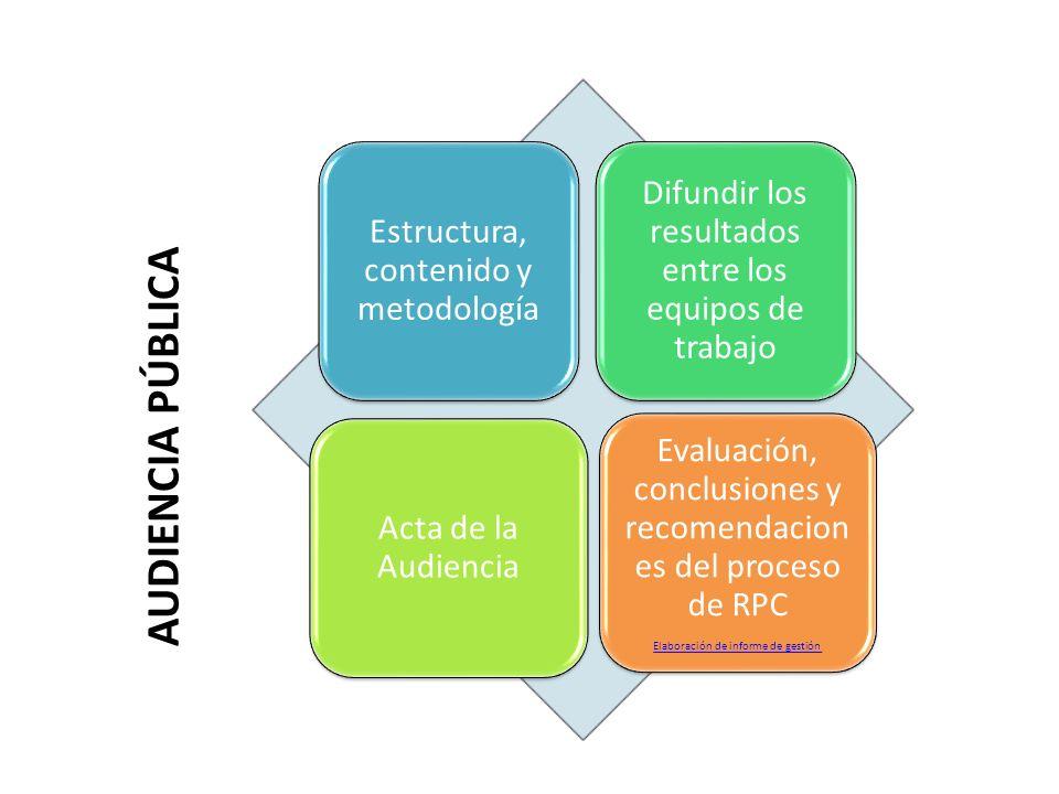 Estructura, contenido y metodología