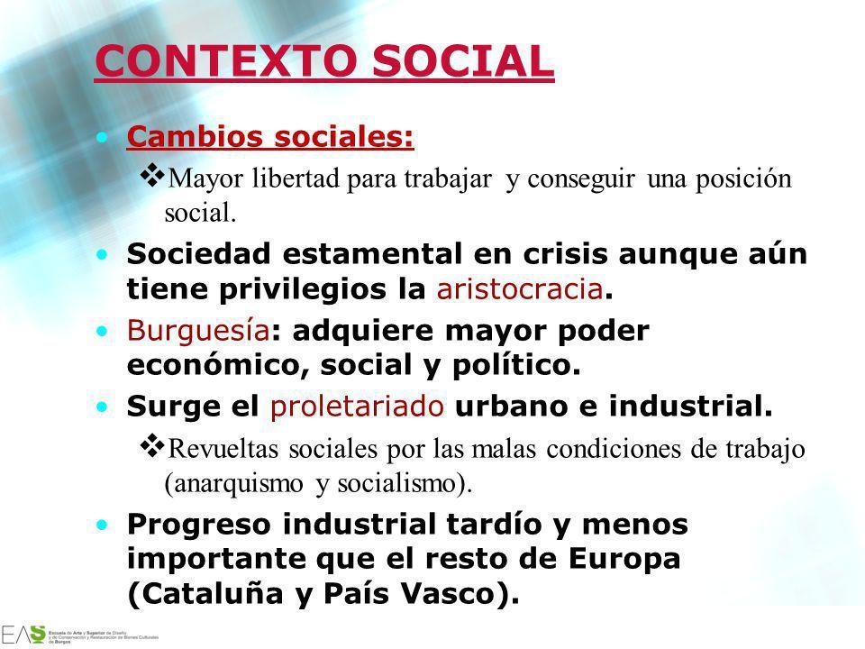 CONTEXTO SOCIAL Cambios sociales: