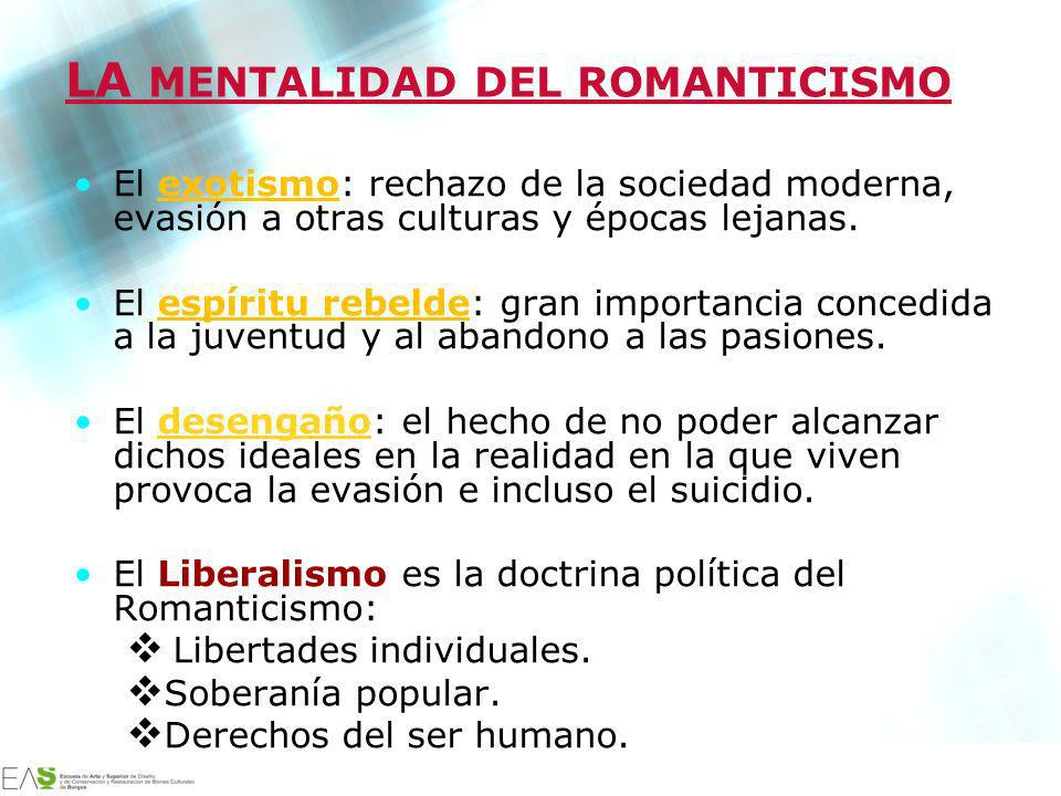 LA MENTALIDAD DEL ROMANTICISMO