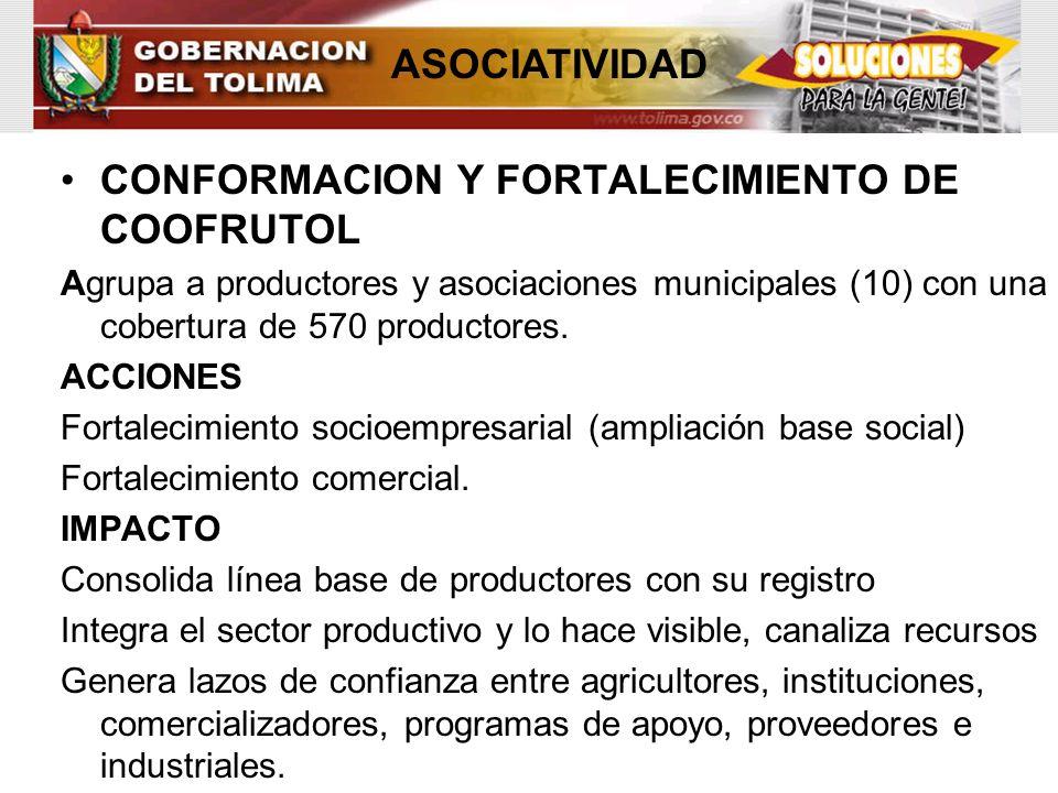 CONFORMACION Y FORTALECIMIENTO DE COOFRUTOL
