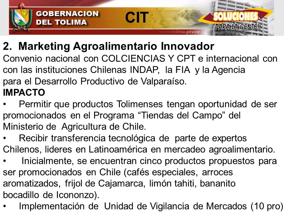 CIT 2. Marketing Agroalimentario Innovador