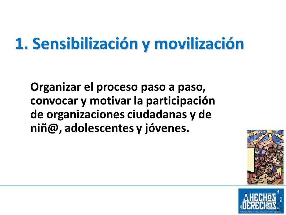 1. Sensibilización y movilización