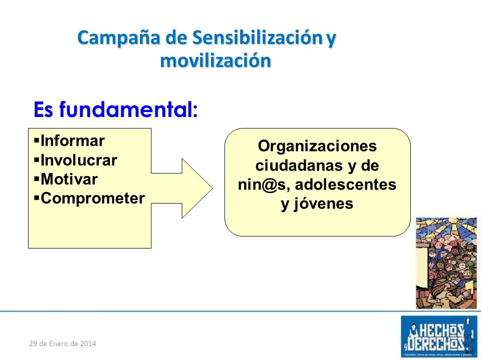 Campaña de Sensibilización y movilización Es fundamental: