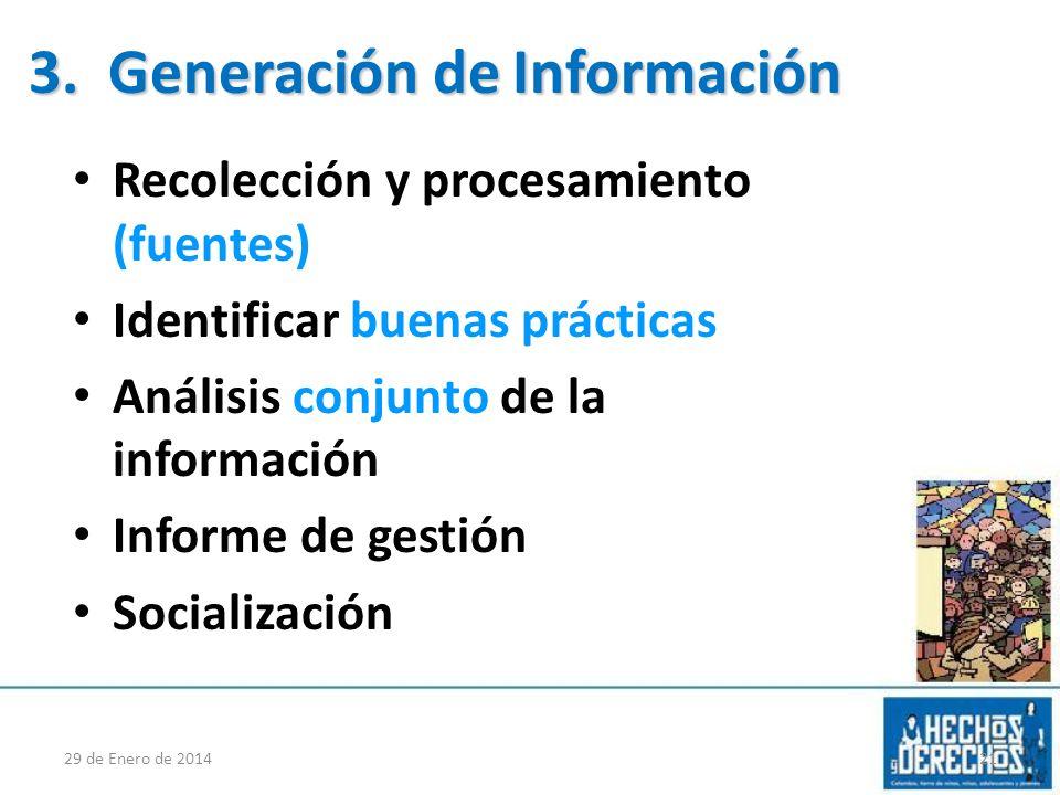 3. Generación de Información
