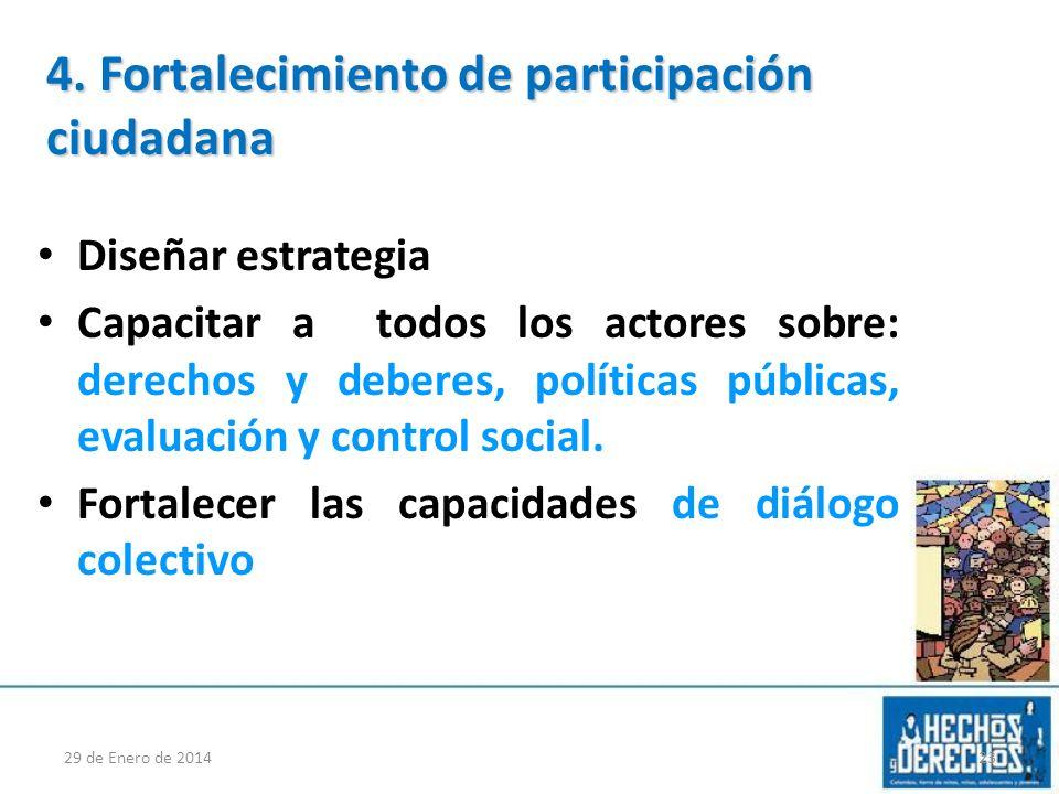 Fortalecimiento de participación ciudadana