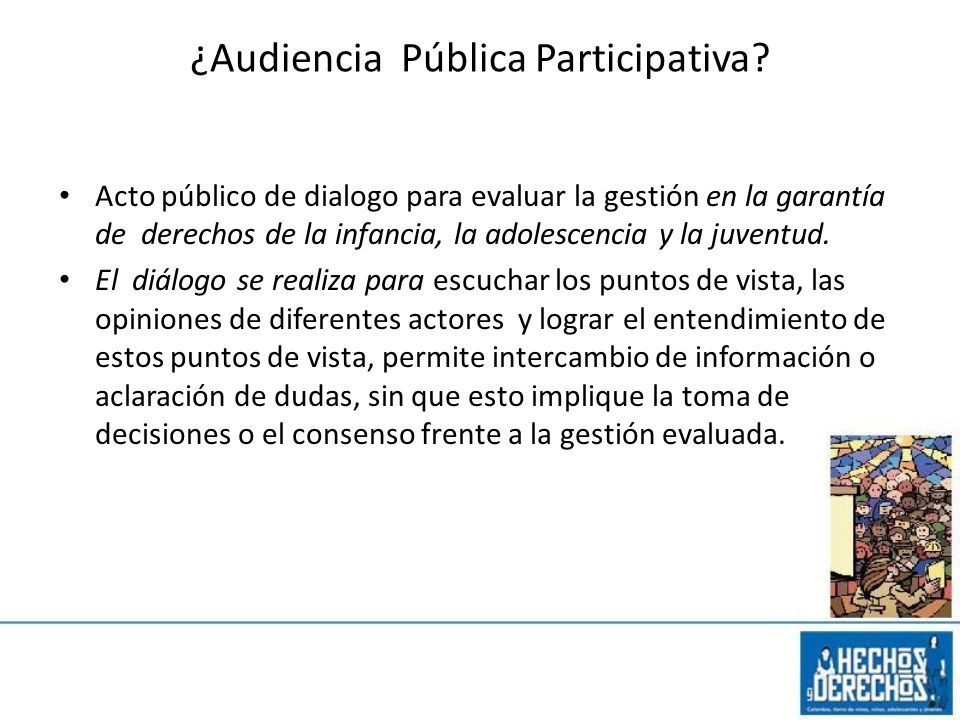 ¿Audiencia Pública Participativa
