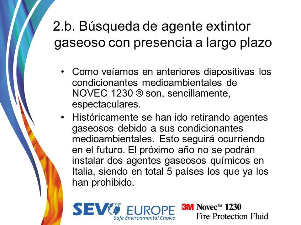 2.b. Búsqueda de agente extintor gaseoso con presencia a largo plazo