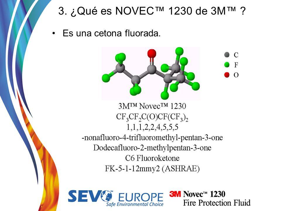 3. ¿Qué es NOVEC™ 1230 de 3M™ Es una cetona fluorada.