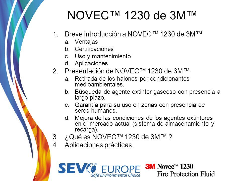 NOVEC™ 1230 de 3M™ Breve introducción a NOVEC™ 1230 de 3M™