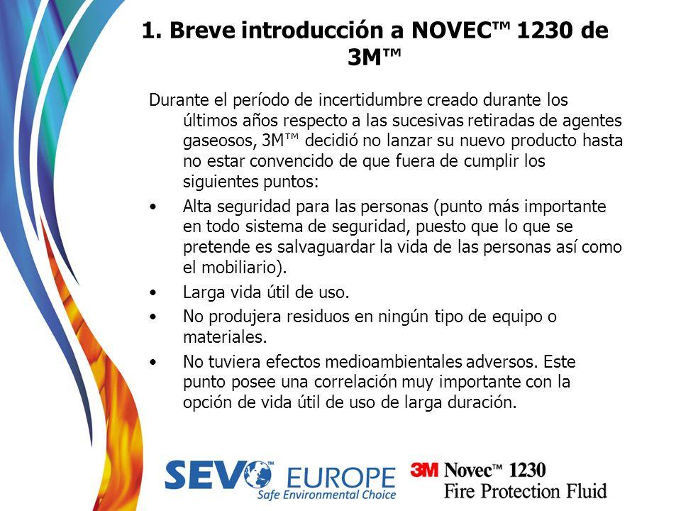 1. Breve introducción a NOVEC™ 1230 de 3M™