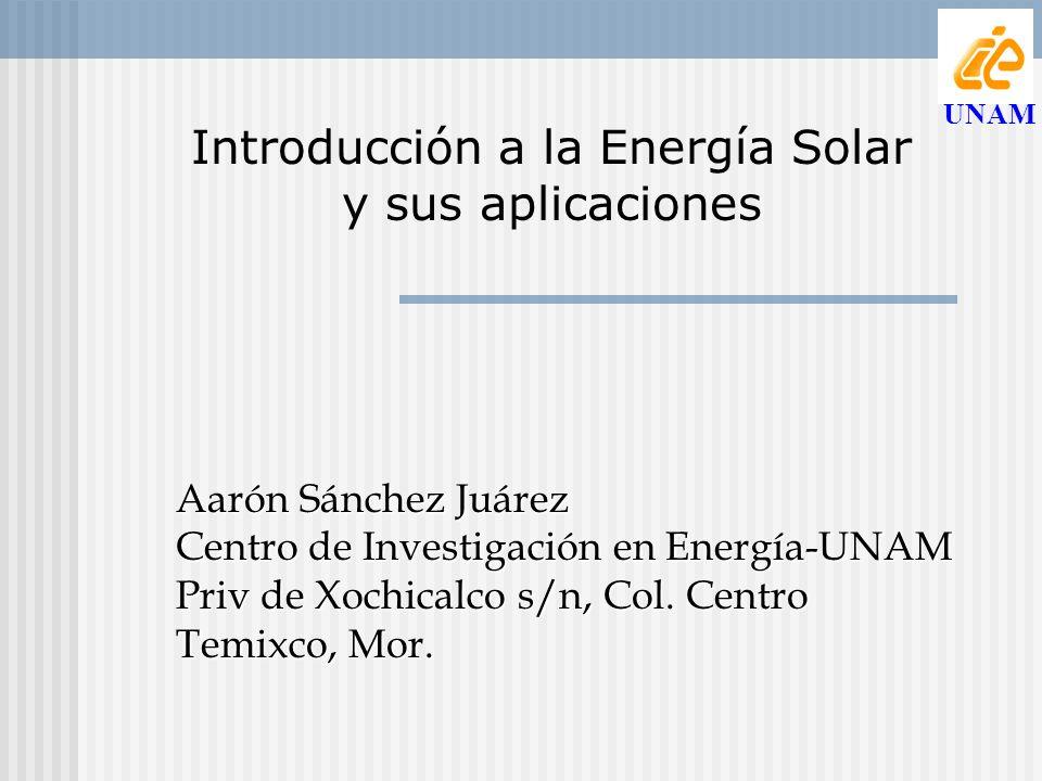 Introducción a la Energía Solar y sus aplicaciones