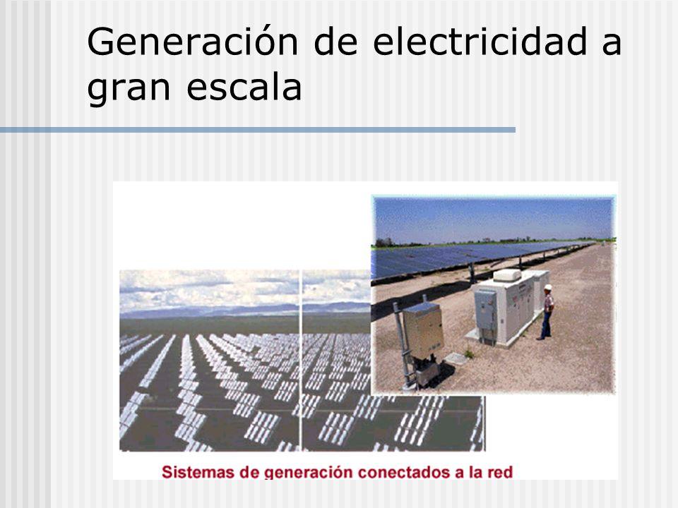 Generación de electricidad a gran escala
