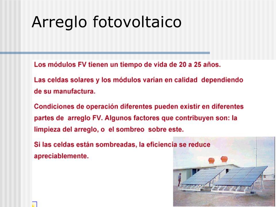 Arreglo fotovoltaico