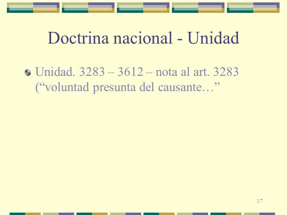 Doctrina nacional - Unidad