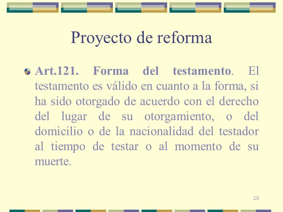 Proyecto de reforma