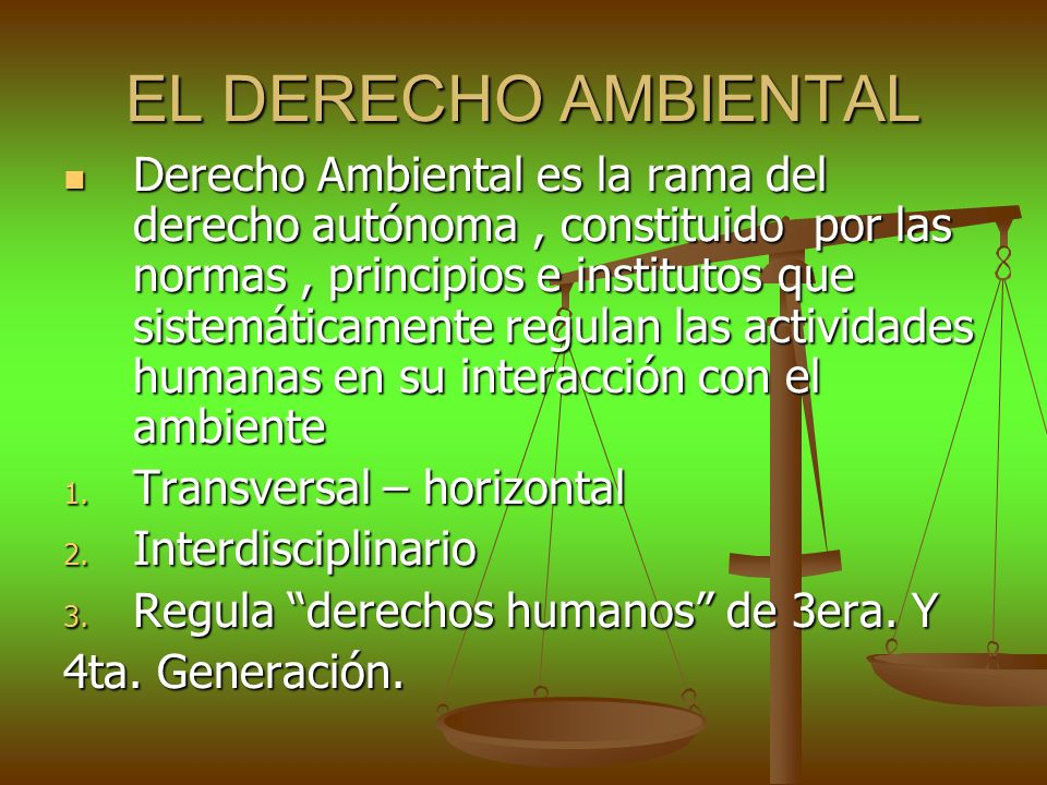 EL DERECHO AMBIENTAL