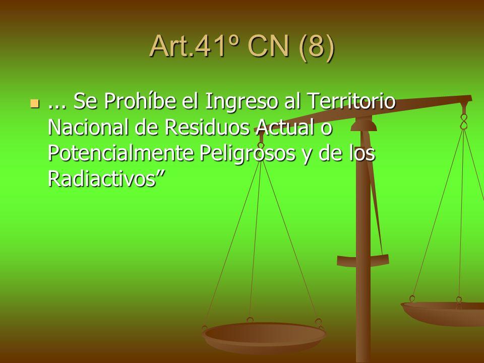 Art.41º CN (8) ...