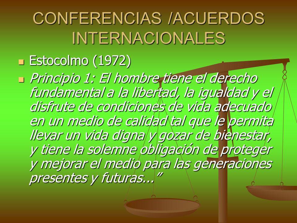 CONFERENCIAS /ACUERDOS INTERNACIONALES