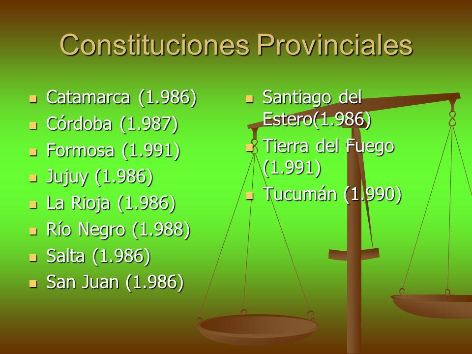 Constituciones Provinciales