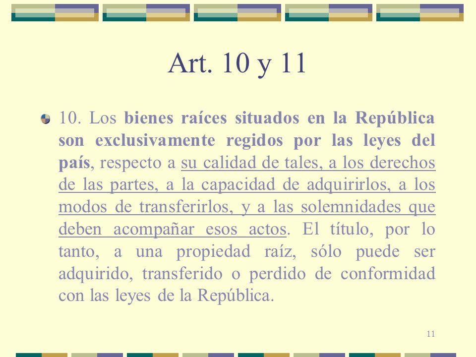Art. 10 y 11