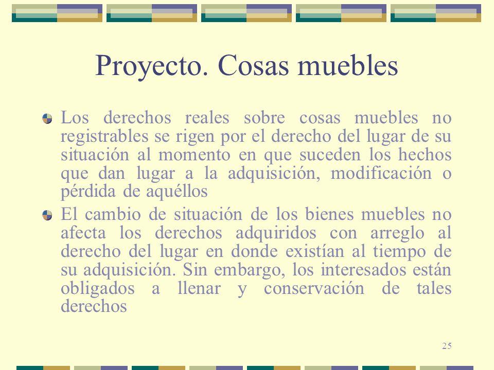 Proyecto. Cosas muebles