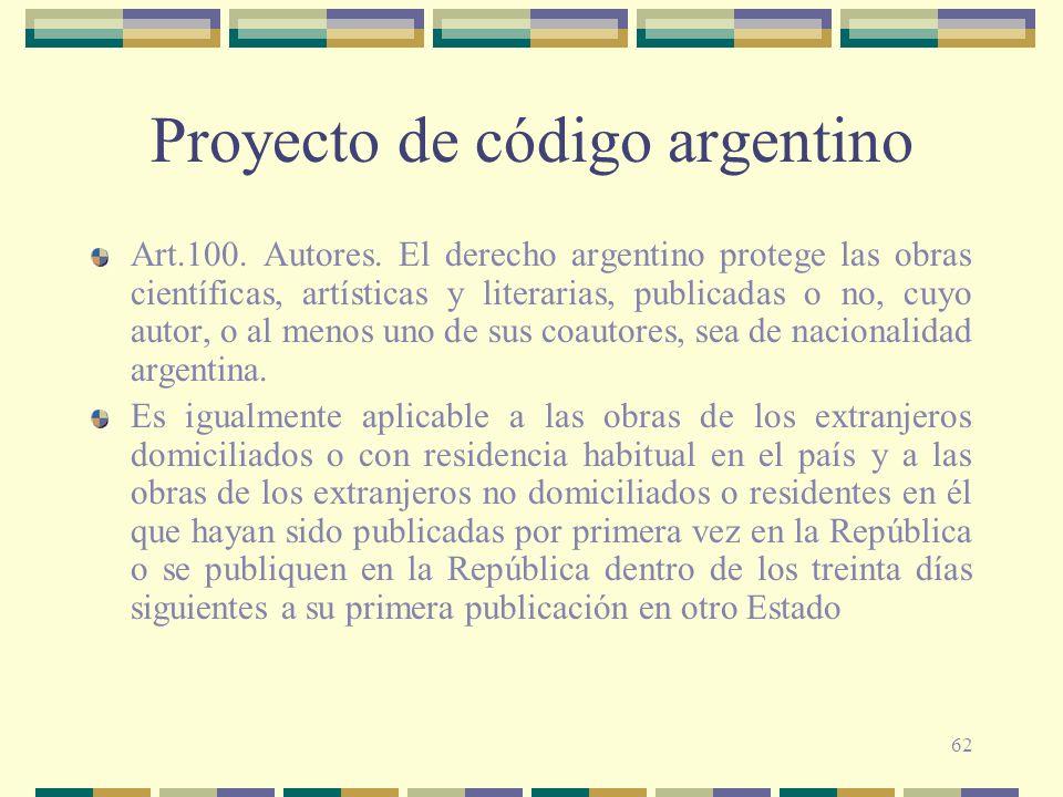 Proyecto de código argentino