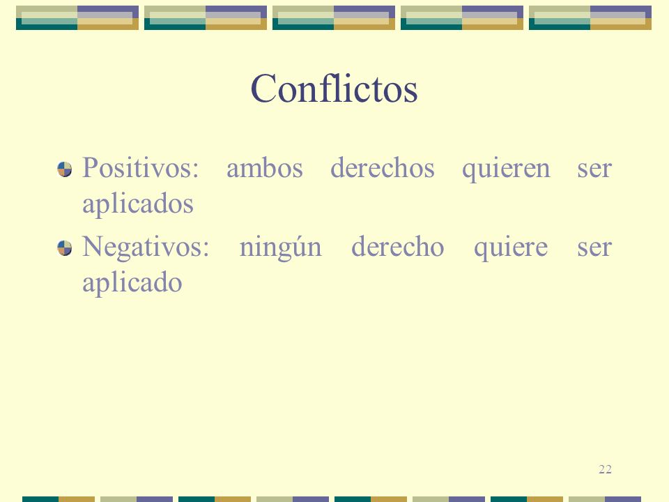 Conflictos Positivos: ambos derechos quieren ser aplicados